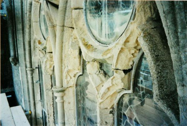 Church window before repair