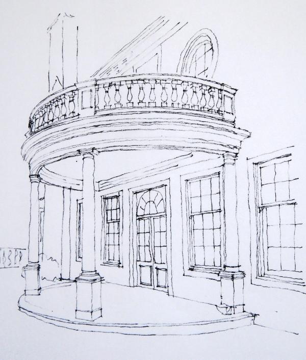 Portico sketch as proposed