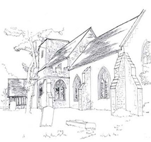 South Benfleet church sketch