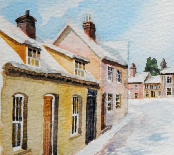 Castle Hedingham Conservation Area painting 4